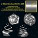 2 twisted fractal earrings