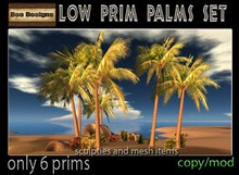 50% OFF-Low prim Palm trees set