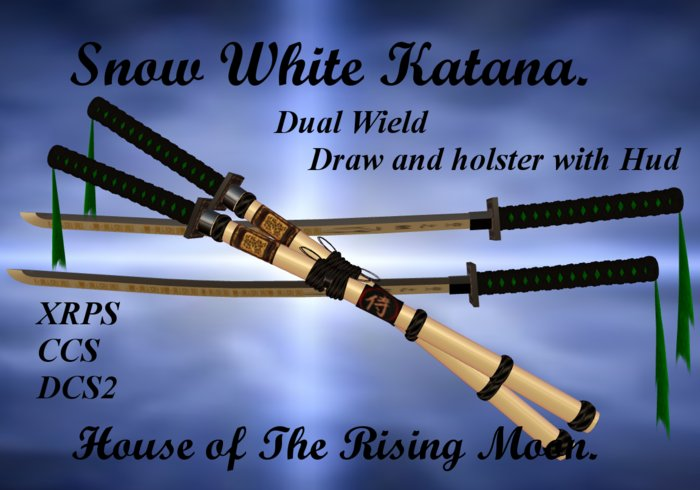 Blade of Snow White Katana Dual