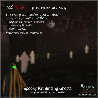 -Hanaya- Spooky Pathfinding Ghosts [mesh]