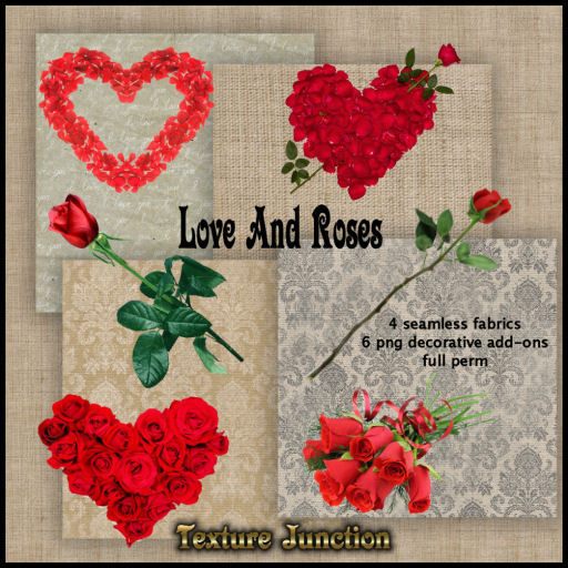 Second Life Marketplace Tj Love And Roses Textures