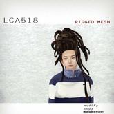 *booN LCA518 hair brown/mat/chestnut RIGGED MESH