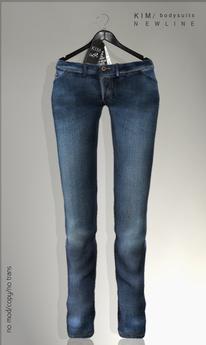 KIM-Jean Mesh Pants- Blue
