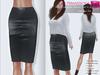 %50WINTERSALE FULL PERM CLASSIC RIGGED MESH Women's Female Ladies Midi Pencil Skirt V.2 - 2 TEXTURES Black Brown