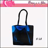 Things I Like - Black and Blue Tote Mesh Bag