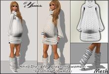 "Knit Dress for pregnant women ""Veronika"" / white"