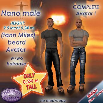 ND/MD nano male - (tann Miles beard) complete tiny mesh avatars