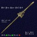 Fish Bone Spear Staff Gold