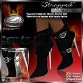 """** SALE ** !Drakke! """"Strapped"""" Ankle Boots (Black)  ~ (works with All Viewers, Includes Alpha Masks & Invisi Prims)"""