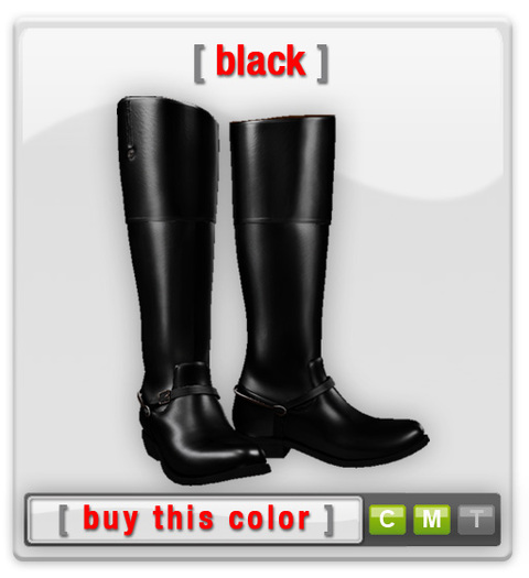Leather Boots - Riding Boots - Black
