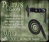 <SF> Primus Whip 1.11  - Spellfire Weapons