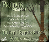 <SF> Primus Trident Rence Spear 1.11  - Spellfire Weapons