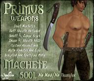 <SF> Primus Dual Machete 1.11  - Spellfire Weapons