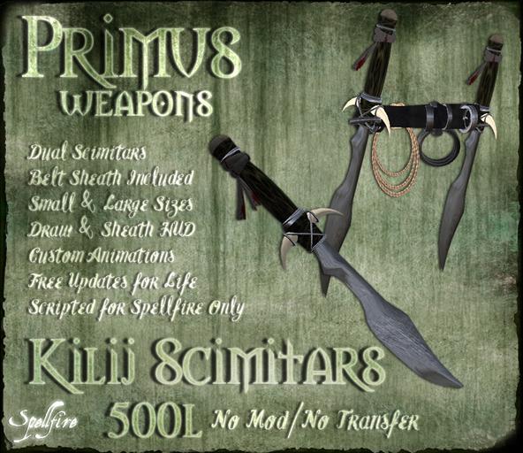 <SF> Primus Dual Kilij Scimitars 1.11  - Spellfire Weapons