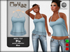 Pia mesh top ~ Pastel collection - blue