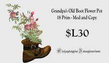 Grampa's Old Boot Flower Pot