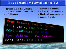 Text Display Revolution (C,T)