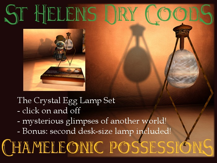 @LC@The Crystal Egg Floor Lamp and Desk Lamp Set