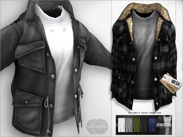 switch. Achtung! Lumber Jack {Mesh} Coat Charcoal