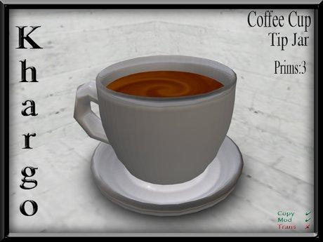 Khargo: Coffee Cup Tip Jar / Tipjar