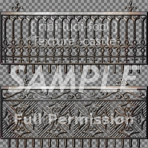 Texture 【CASTLE】 series ★ *fence 1 / Full permission