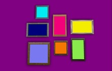 """1 LI """"Mesh Wall Gallery 7 Any Pictures + 7 Any Frames"""" any texture (mod, copy) PROMO"""