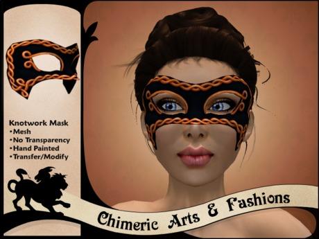Knotwork Mask (Orange & Black)