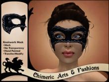 Knotwork Mask (Black & Pewter)