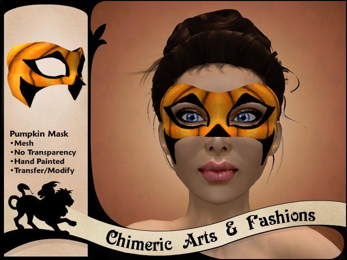 Pumpkin Pattern Mask (Orange)