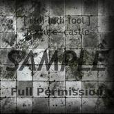 Texture 【CASTLE】 series ★ *floor concrete-tile 1 (R shadow) / Full permission