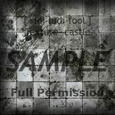 Texture 【CASTLE】 series ★ *floor concrete-tile 1 (L shadow) / Full permission