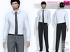 RIGGED MESH Men's Long Sleeve Classic Shirt with Tie & Classic Trousers Suit Outfit V.2 - 3 TEXTURES