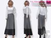 RIGGED MESH Women's Female Ladies Ruffled Classic Maxi Skirt V.2 - 4 TEXTURES Blue Khaki Black Grey