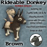 Rideable Donkey for Tinies - Brown