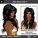 A&A Alena Hair Black (Color 1). Rich full soft curled long hairstyle