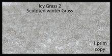 icy grass 2 sculpted winter grass