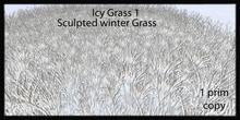Icy grass 1 sculpted winter grass