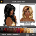 A&A Alena Hair 11 Colors Variety Pack. Rich full soft curled long hairstyle