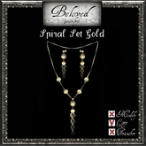 Beloved Jewelry : Spiral Jewelry Set in Gold (2 Piece Jewelry Set-Pendant Necklace and Dangle Earrings)