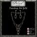 Beloved Jewelry : Teardrop Jewelry Set in Gold (2 Piece Jewelry Set-Double Necklace and Dangle Earrings)