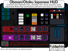 FREE Fudoshin HUD Men's and Women's Japanese HUD - Controls Fans, Parasols, Shoes, Jewelry, Animations and More!