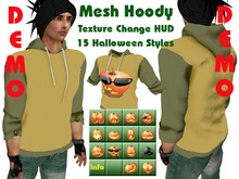 (DEMO) Halloween Mesh Male Hoody Sweater (15 diff looks in scripted texture changing hud) .:: EON ::.