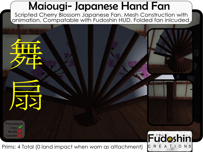 Japanese Fan Maiougi - Scripted Japanese Fan with animations (Compatable with Fudoshin HUD)