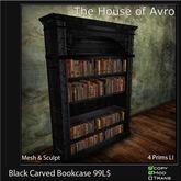 Black Bookcase, Gothic Furniture