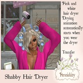 Shabby Hair Dryer with Animation