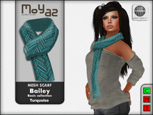 Bailey Mesh Scarf ~ Basic collection - Turquoise