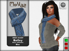 Bailey Mesh Scarf ~ Basic collection - Blue