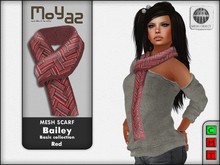 Bailey Mesh Scarf ~ Basic collection - Red