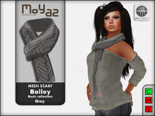 Bailey Mesh Scarf ~ Basic collection - Grey