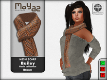 Bailey Mesh Scarf ~ Basic collection - Brown